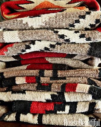 pendelton blankets, bachelor pad