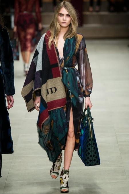 Carla Delevingne scarf finale, burberry scarf finale 2014