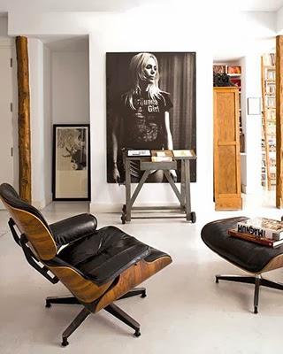eames recliner, eames lounge, herman miller