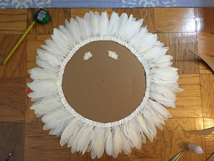 DIY feather headdress, diy african juju hat