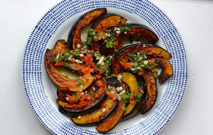 Spicy acorn squash recipe, savory acorn squash recipe, acorn squash