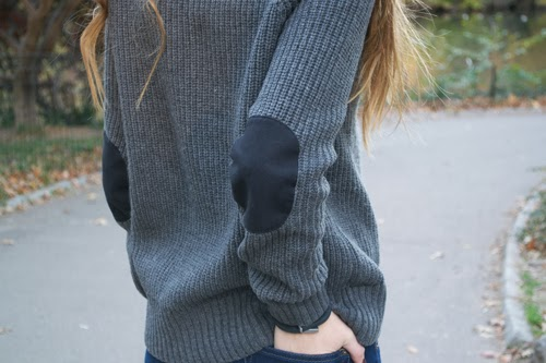 banana republic sweater with elbow patches