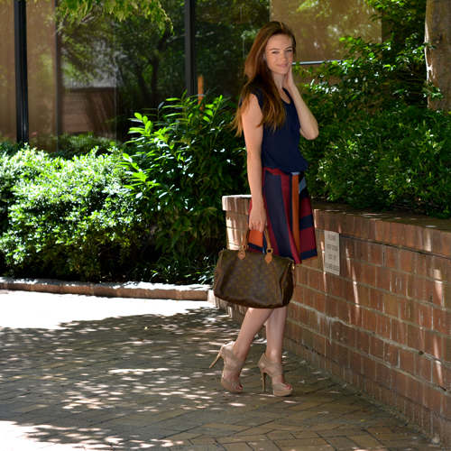 zara striped skirt, smashing style, ashley manfred