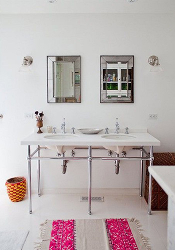 Double Metal Washstand Sink