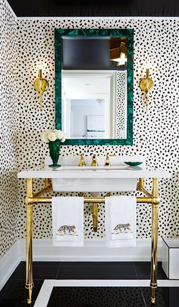 Gold Metal Washstand Sink