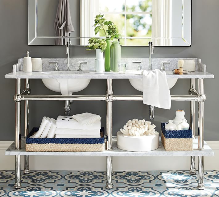 Washstand sinks ashley manfred design for Apothecary style bathroom vanity