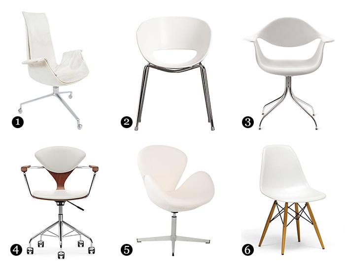 $129 Orbit White Arm Chair | CB2 3. $599 Nelson Swag Leg Armchair | Design  Within Reach 4. $1,452.65 Cherner Task Chair | Design Within Reach