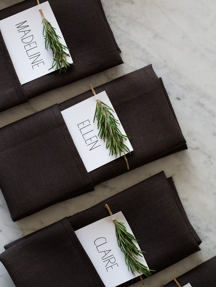 Fall Dinner Table Napkin Setting Inspiration