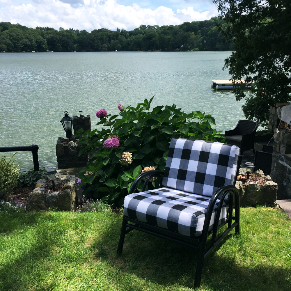 Flea Market Flip_Buffalo Check Outdoor Chair_Ashley Manfred