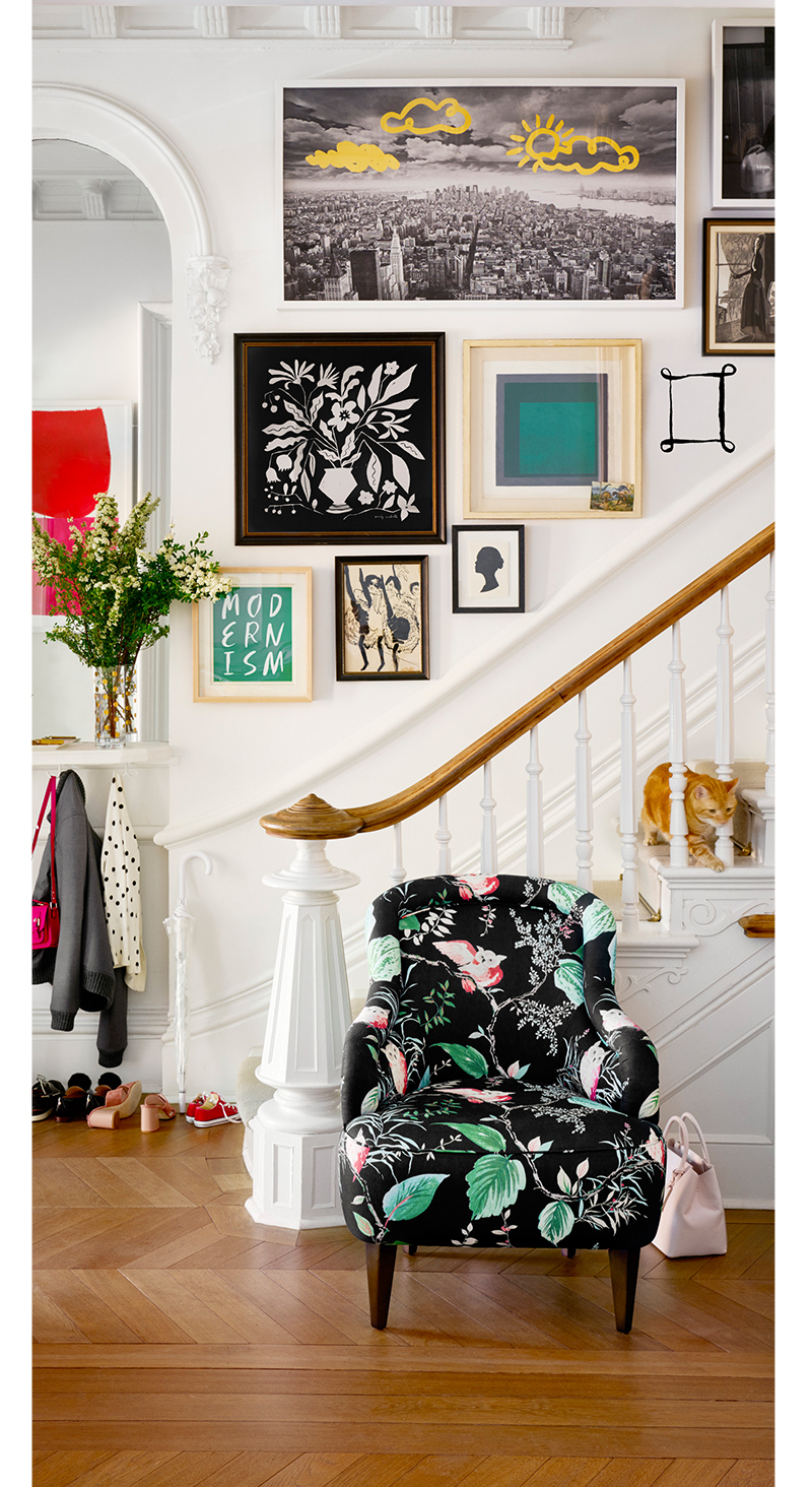 Kate Spade Art Foyer Drawn On