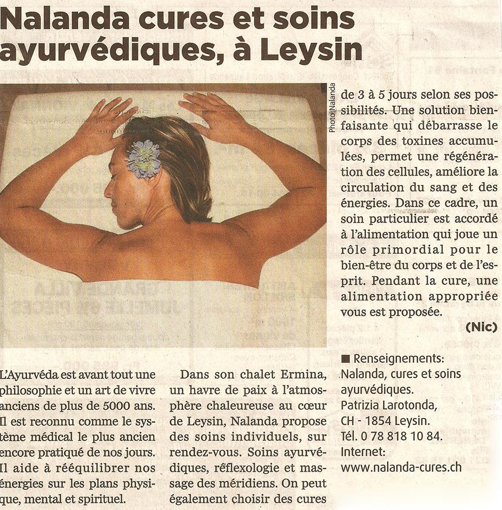 La Presse Riviera Chablais ·Janvier 2009