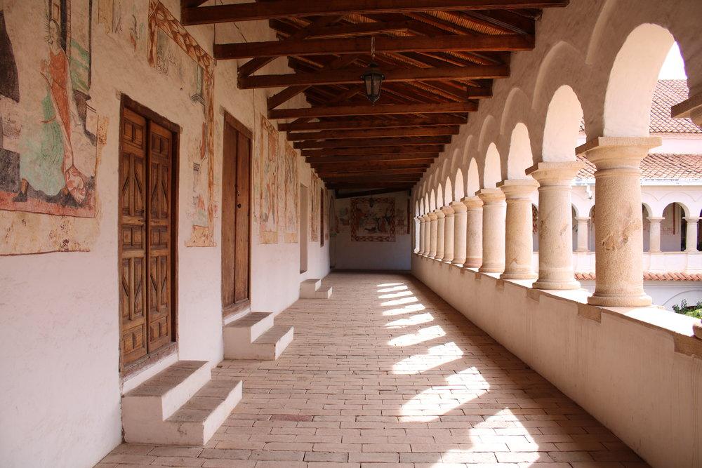 Inside Santa Clara Convent