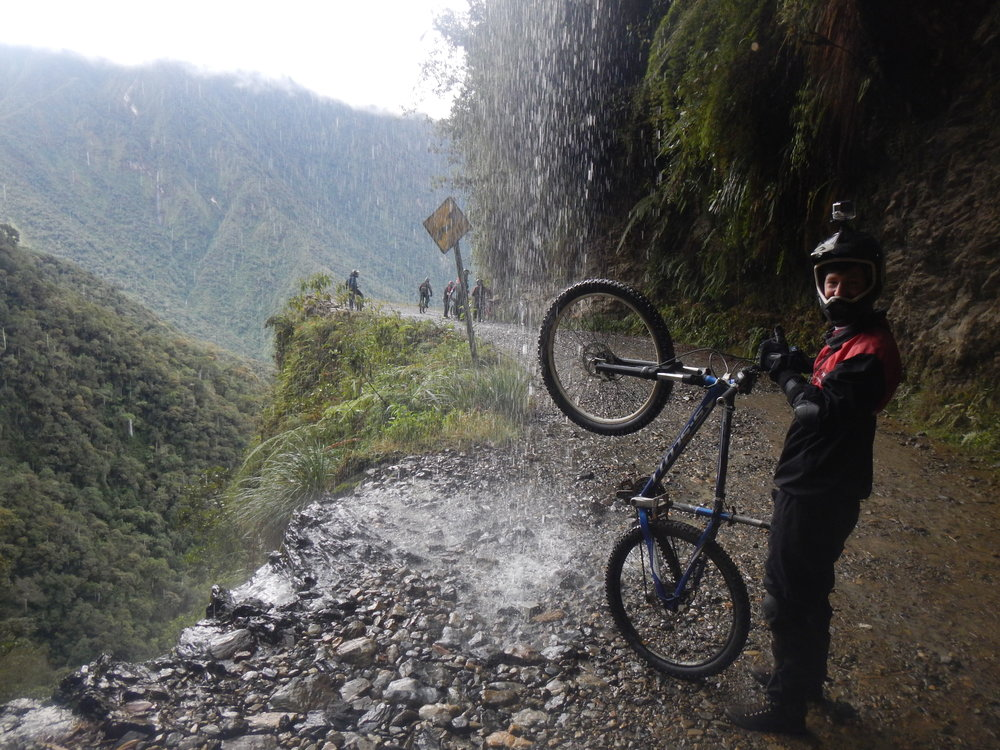 Cycling Under Waterfalls