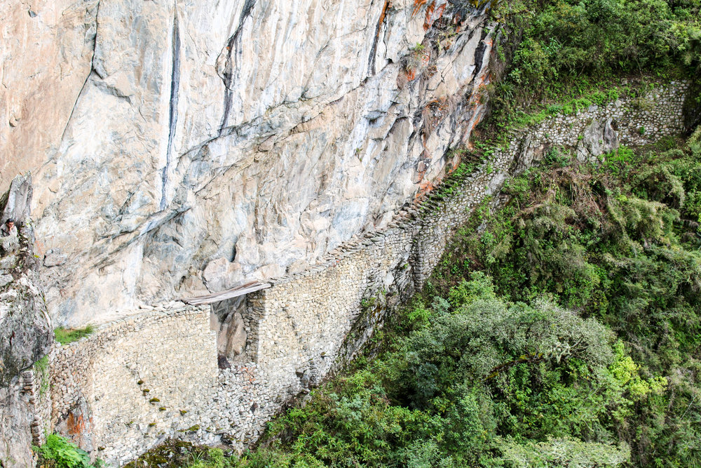 The Inca Bridge at Machu Picchu, Peru
