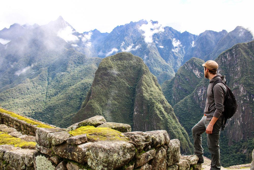 Watching the Clouds at Machu Picchu, Peru
