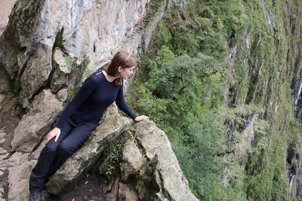 Facing Fears at the Inca Bridge, Machu Picchu, Peru