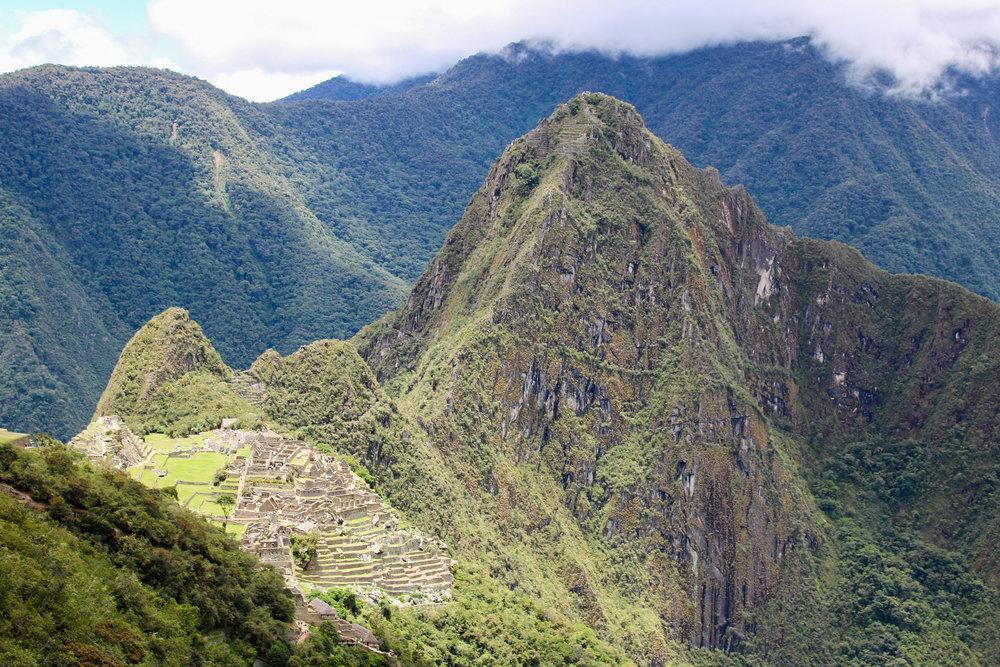 Machu Picchu from the Sun Gate, Peru