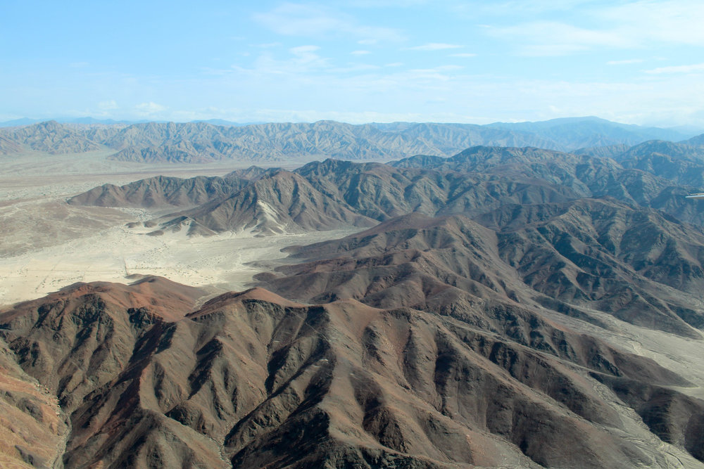 Nazca Landscape from the Plane