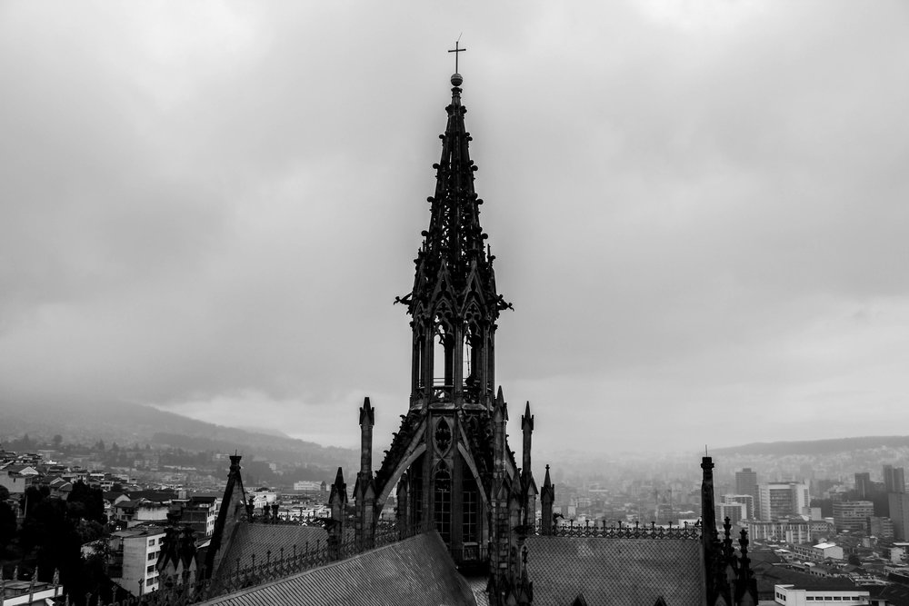 Bell Tower Views at Quito Cathedral, Ecuador