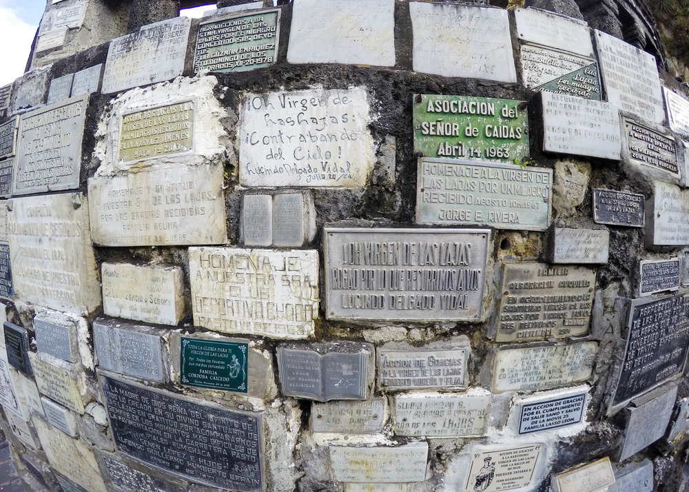 Memoriam Plaques at Las Lajas, Colombia