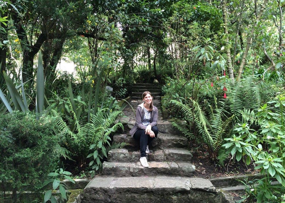Sat in Bolívars Garden in Botogá, Colombia