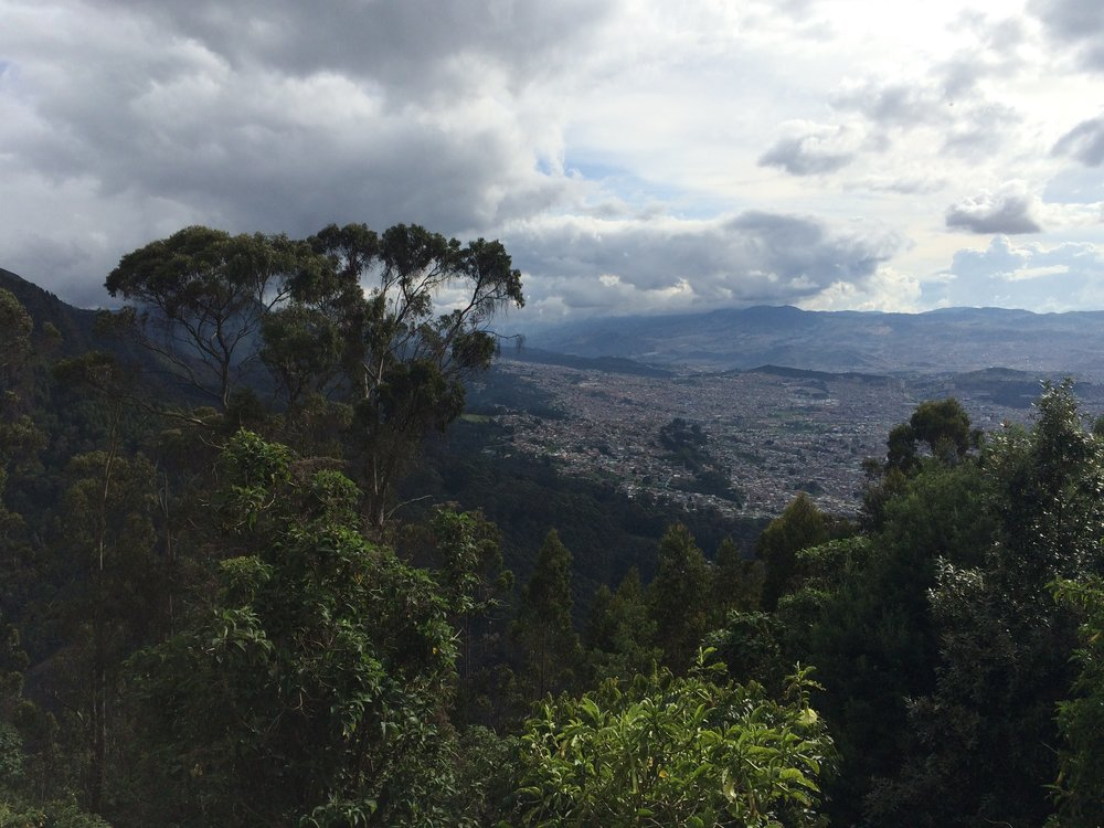 At the Top of Monserrate Mountain, Bogotá
