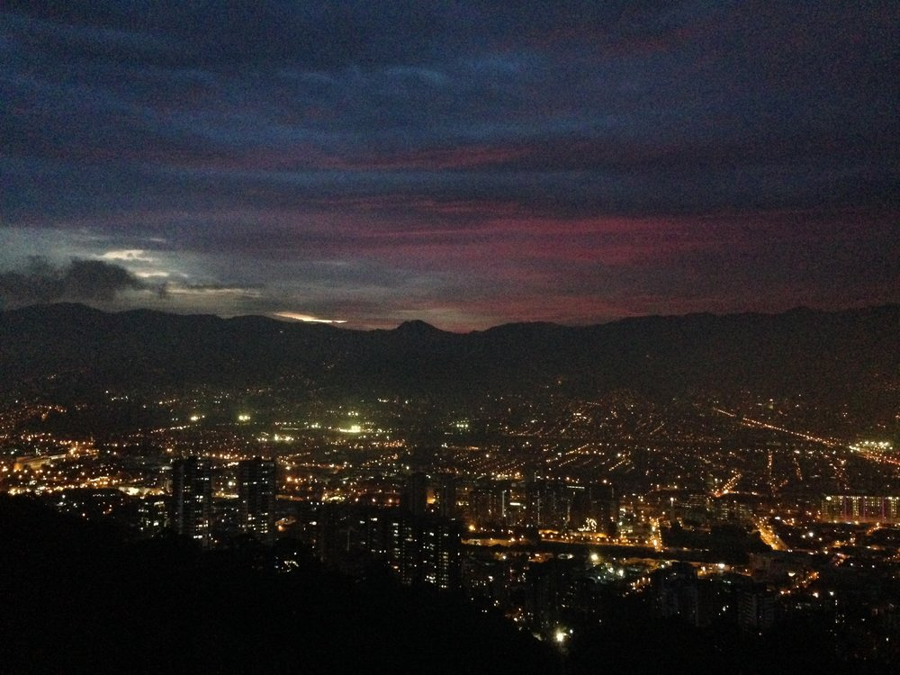 Overlooking Medellín at Night, Colombia