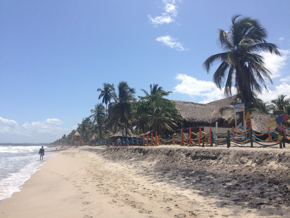 Beach at Palomino in Colombia
