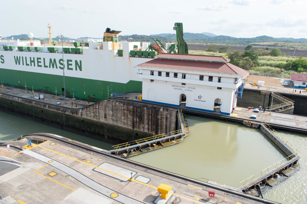The Miraflores Locks of The Panama Canal
