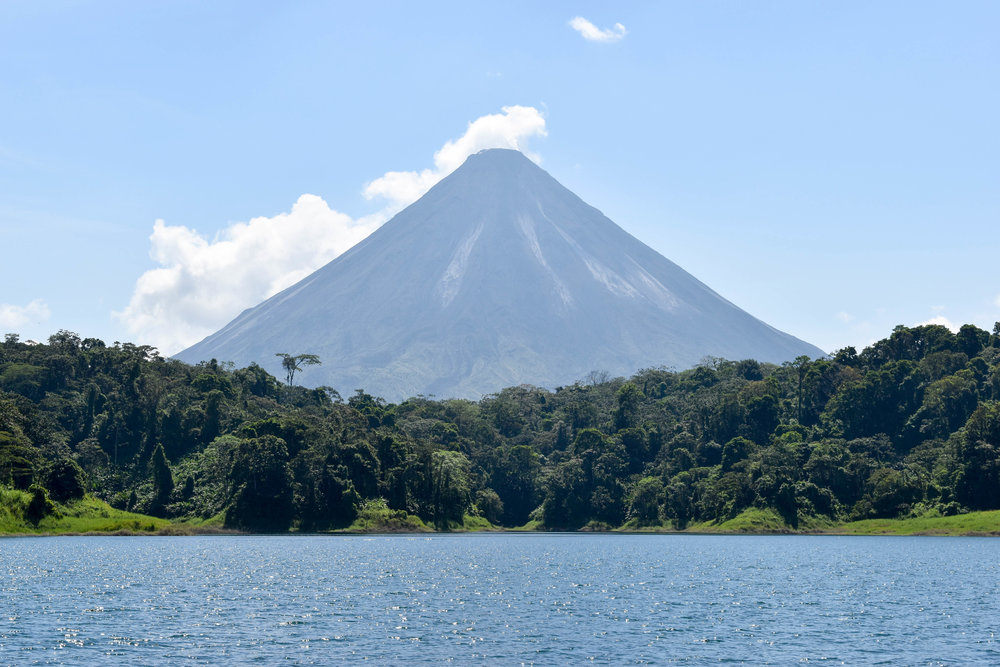 Volcano Arenal From the Boat, Costa Rica