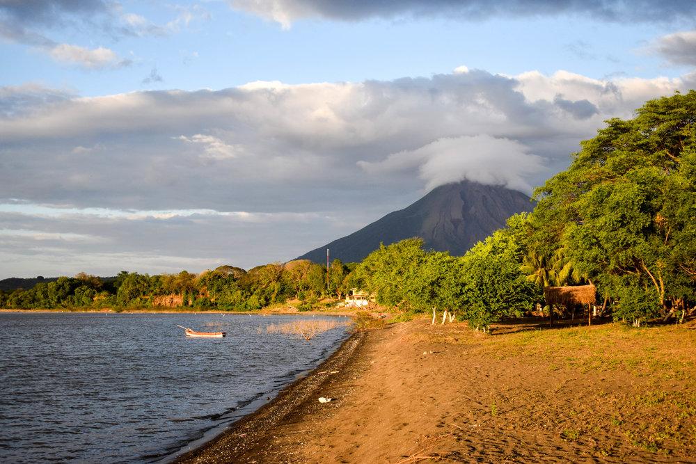Sunset on Isle de Ometepe in Nicaragua
