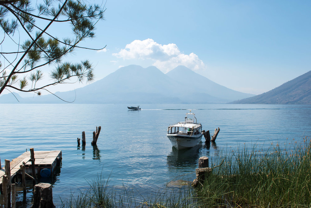 Our Breakfast View on Lake Atitlán in Guatemala