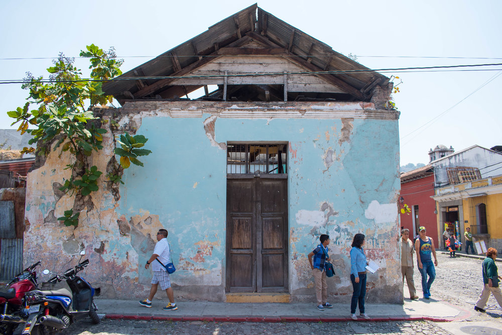 My Favourite Shade of Blue in Antigua, Guatemala