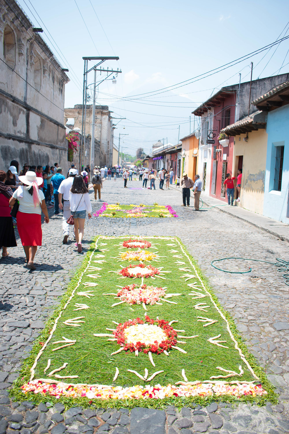 Colourful Carpets in Honour of Semana Santa in Antigua, Guatemala