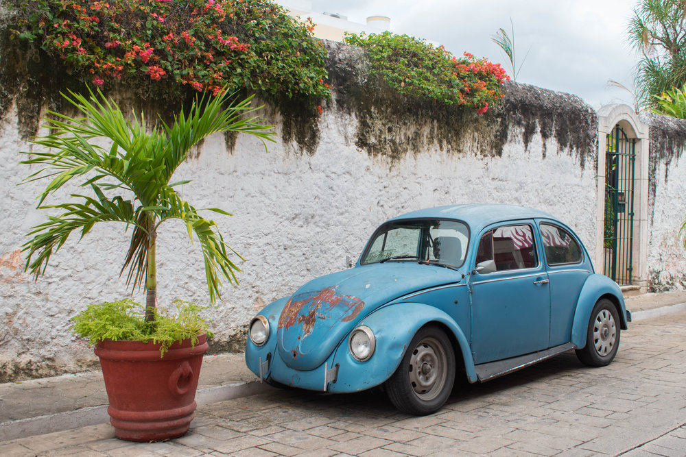 A Beetle in Valladolid in Mexico
