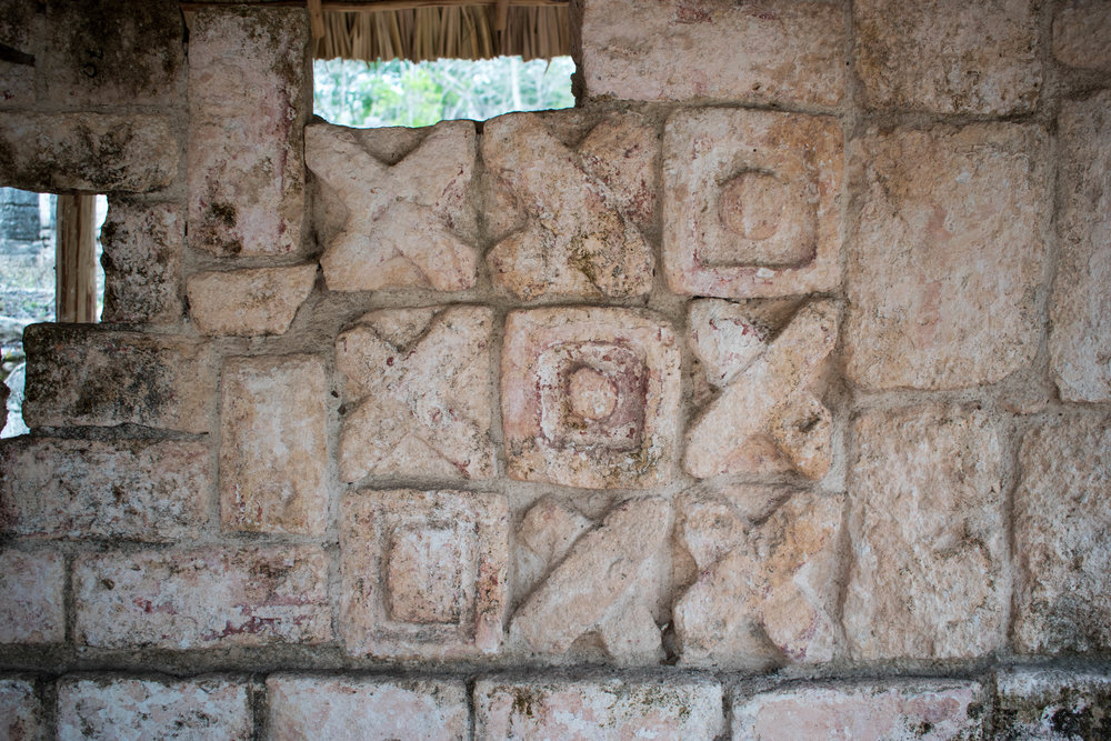 Tic Tac Toe? Carvings At Chichén Itzá in Mexico
