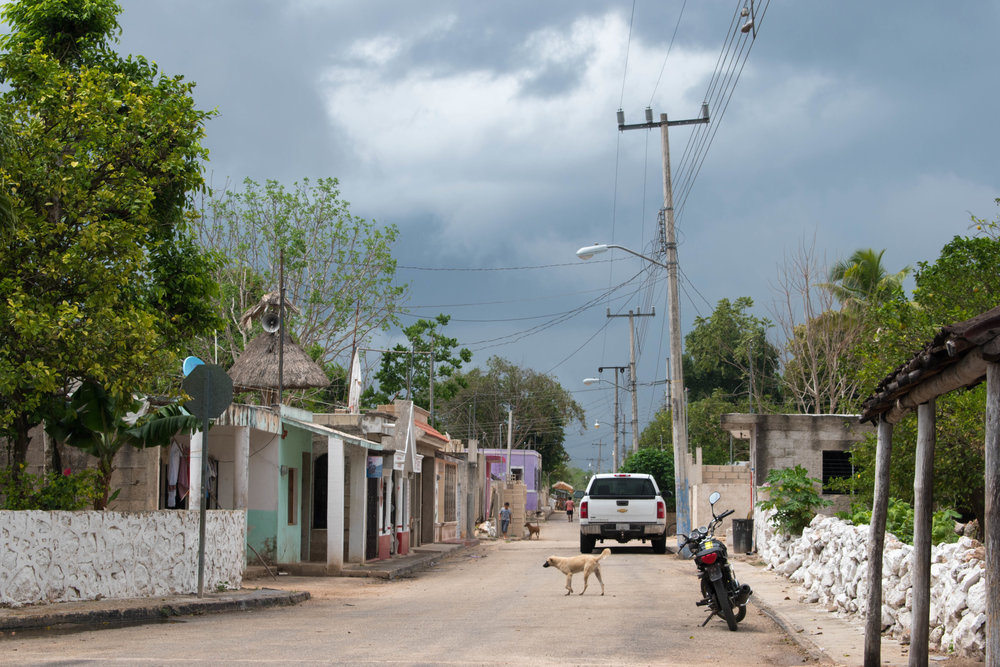 A Typical Mexican Village Near Valladolid