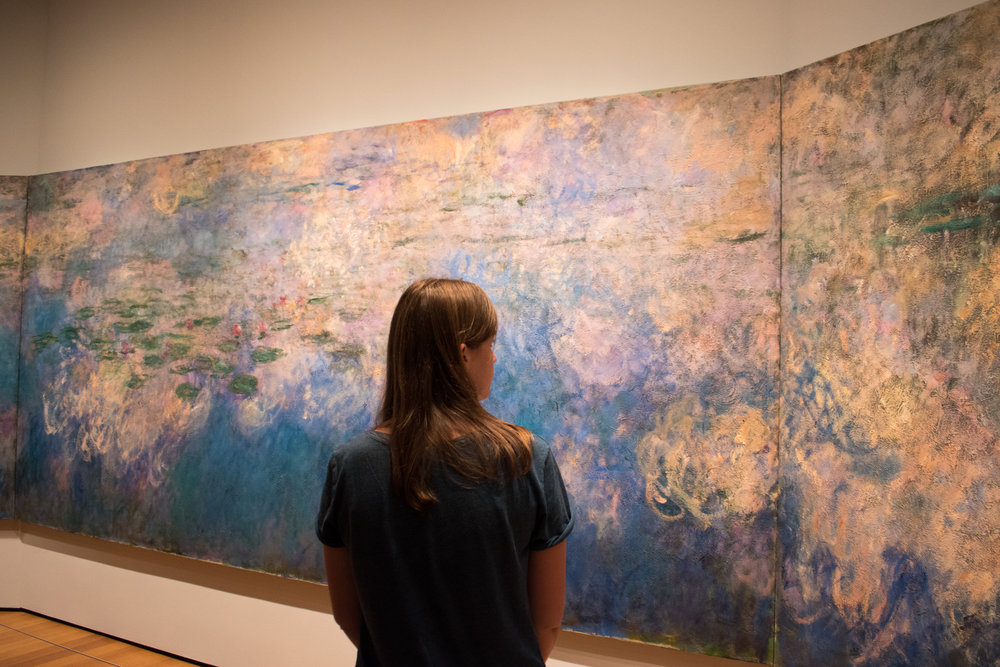 Admiring My Favourite Artwork, Monet's Water Lily Triptych in the MoMA