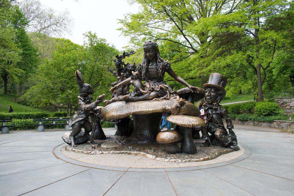 The Alice in Wonderland Statuein Central Park, New York