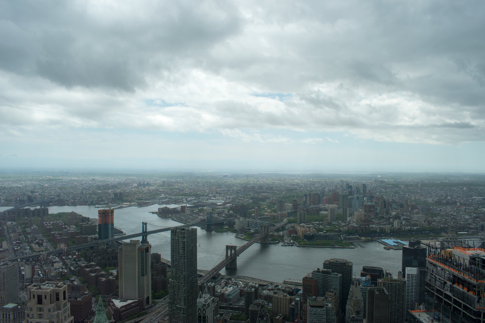 The View Over The East River and To Brooklyn From One World Trade Center in New York