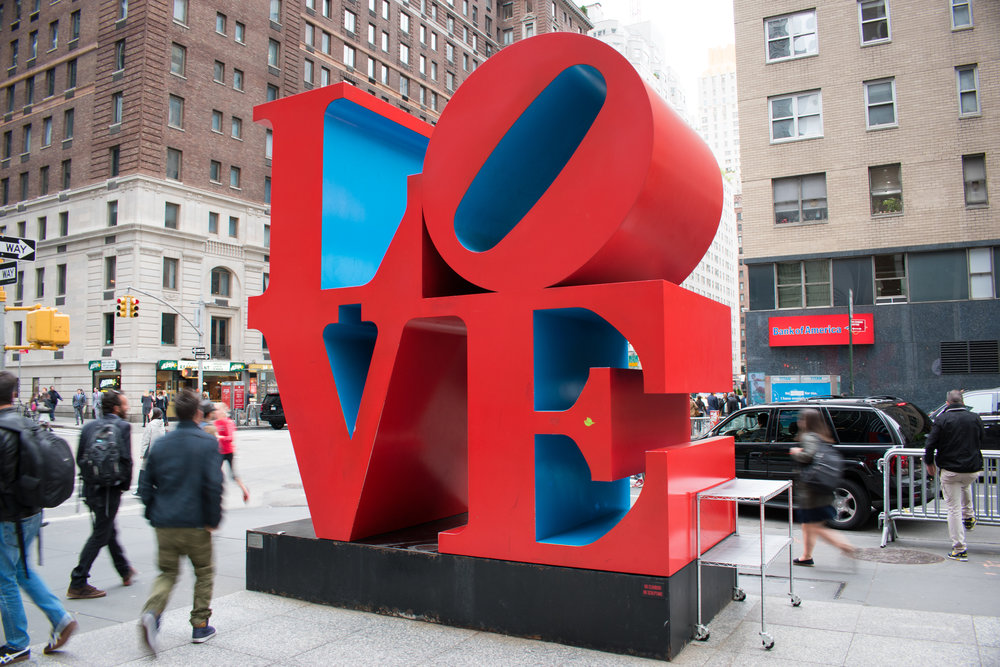 The LOVE Sculpture by Robert Indiana in New York