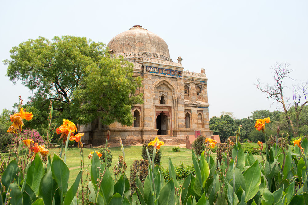 Inside Lodhi Gardens in Delhi, India