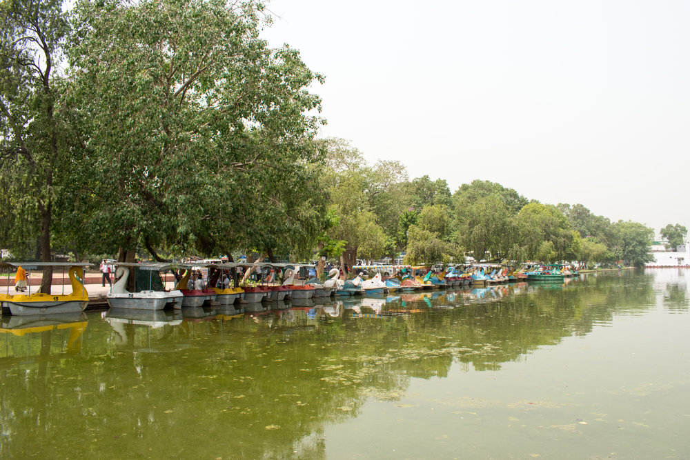 Boats Just Outside India Gate in Delhi, India