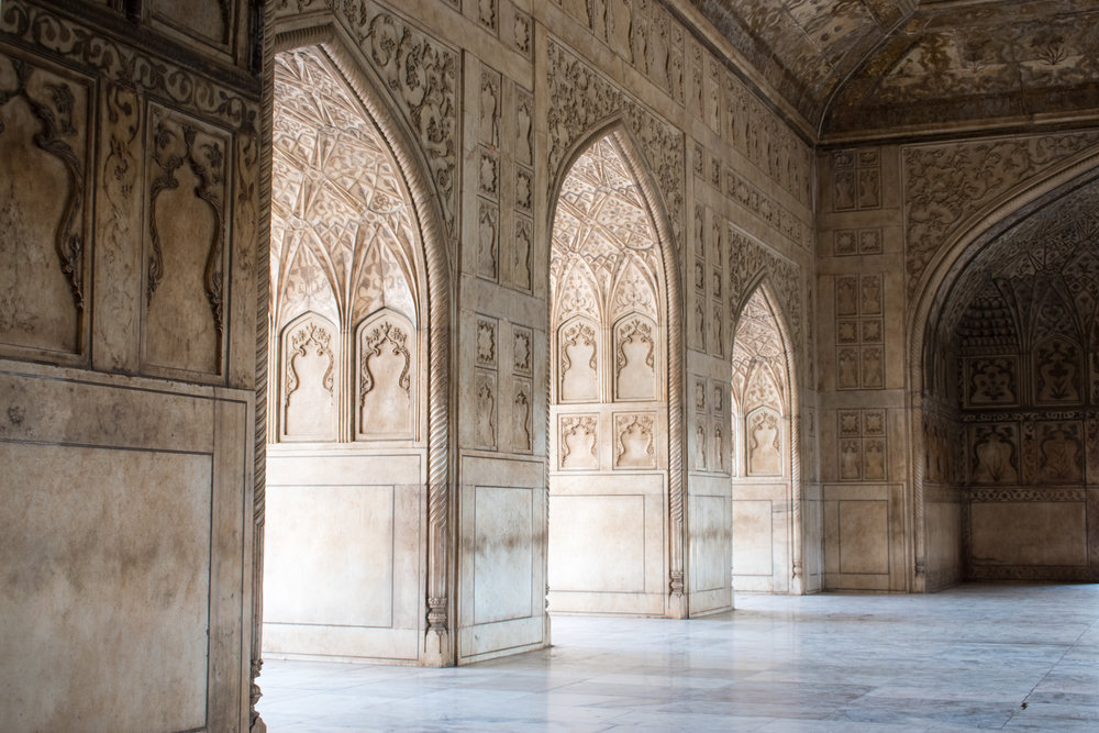 A Decorative Interior at The Taj Mahal in India