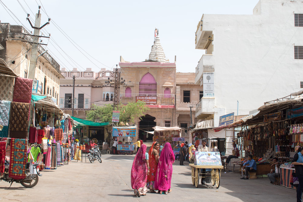 A Vision In Pink, Local Women Shop In Pushkar, India