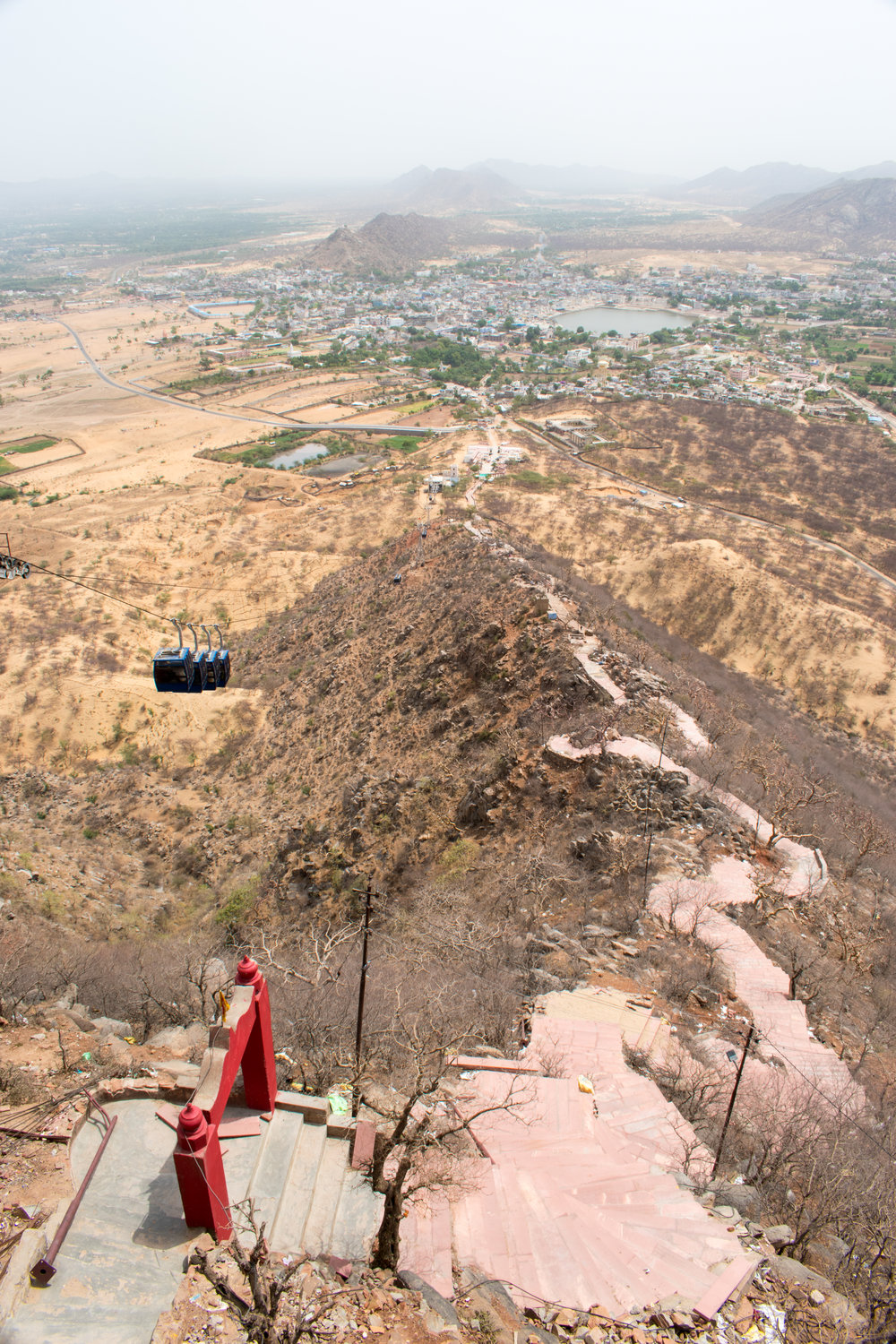 From The Top Of The Hill Overlooking Pushkar Surrounding A Holy Lake In India