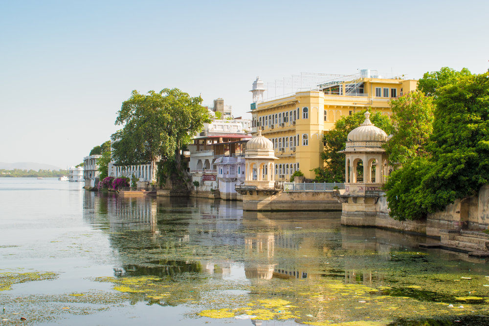 Pretty Lakeside Buildings In Udaipur, India