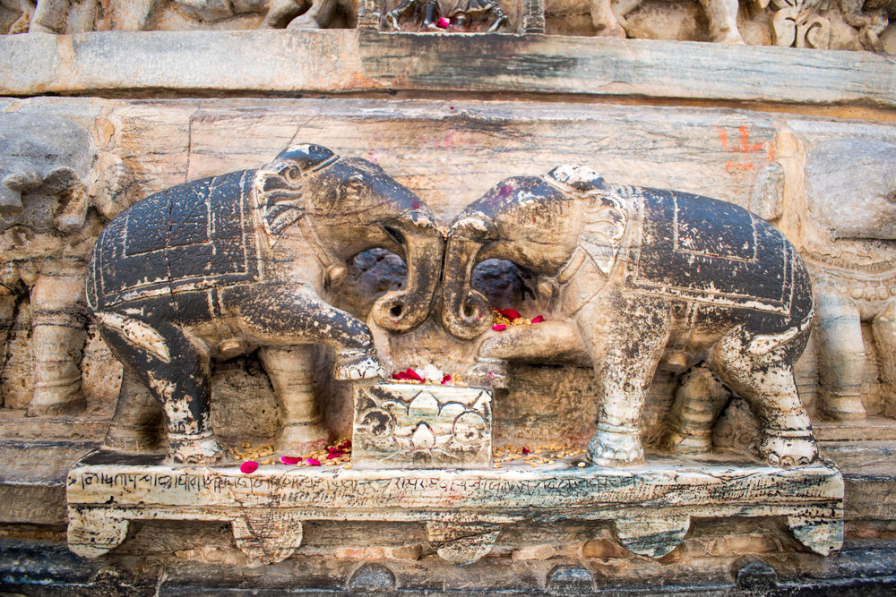 Elephant Carving In Udaipur, India