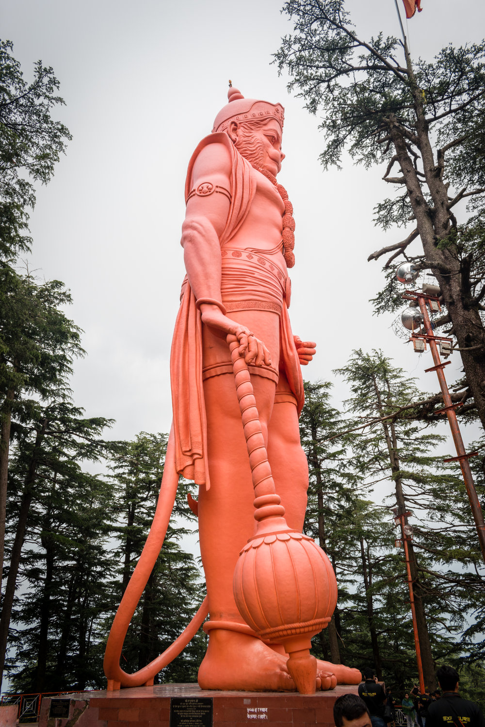 The Monkey Statue in Shimla, India