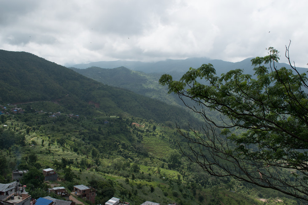 Walking To The Top Of The Viewpoint in Bandipur, Nepal